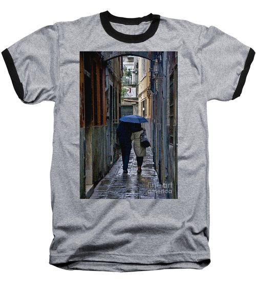 Venice In The Rain Baseball T-Shirt