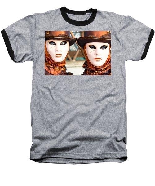 Venice Masks - Carnival. Baseball T-Shirt by Luciano Mortula