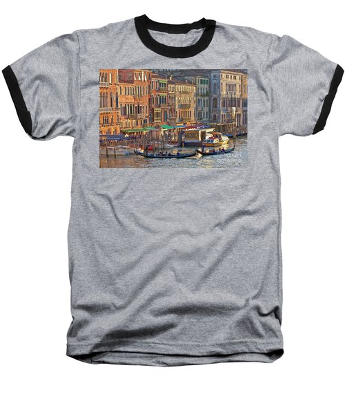 Venice Palazzi At Sundown Baseball T-Shirt