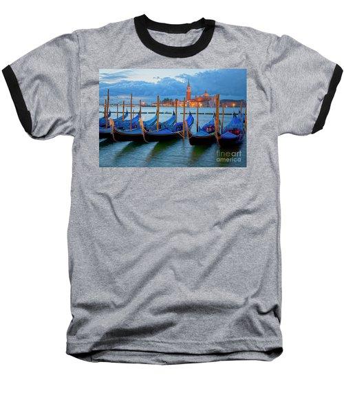 Venice View To San Giorgio Maggiore Baseball T-Shirt by Heiko Koehrer-Wagner