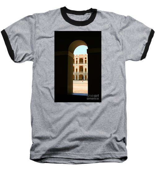 Ventana De Arco Baseball T-Shirt by The Art of Alice Terrill