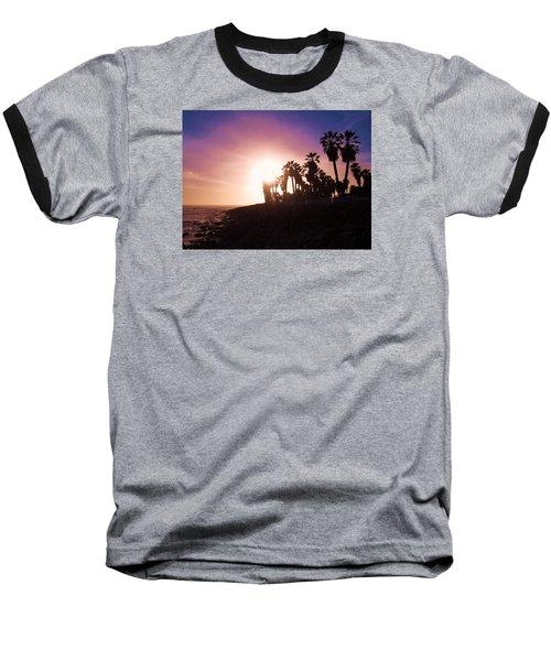 Baseball T-Shirt featuring the photograph Ventura Beach Sunset by Mary Ellen Frazee