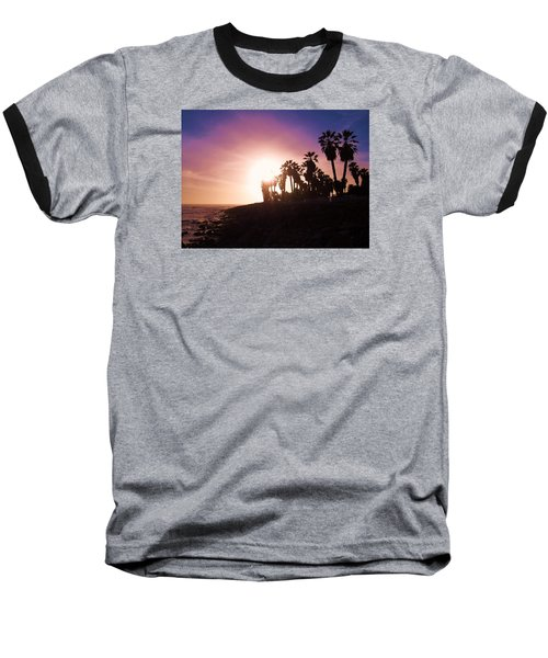 Ventura Beach Sunset Baseball T-Shirt