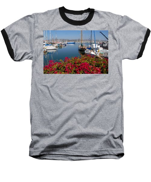 Ventura Harbor Baseball T-Shirt by Lynn Bauer