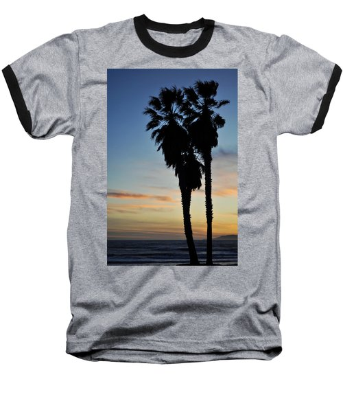 Ventura Palm Sunset Baseball T-Shirt