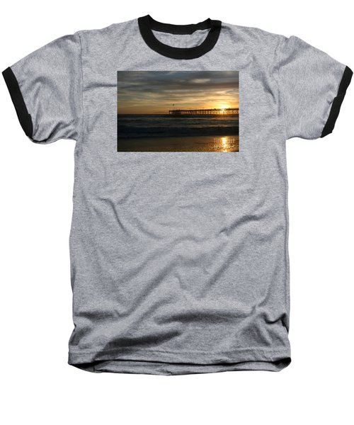 Ventura Pier 01-10-2010 Sunset  Baseball T-Shirt