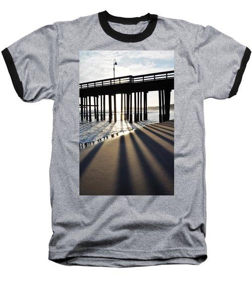 Baseball T-Shirt featuring the photograph Ventura Pier Shadows by Kyle Hanson