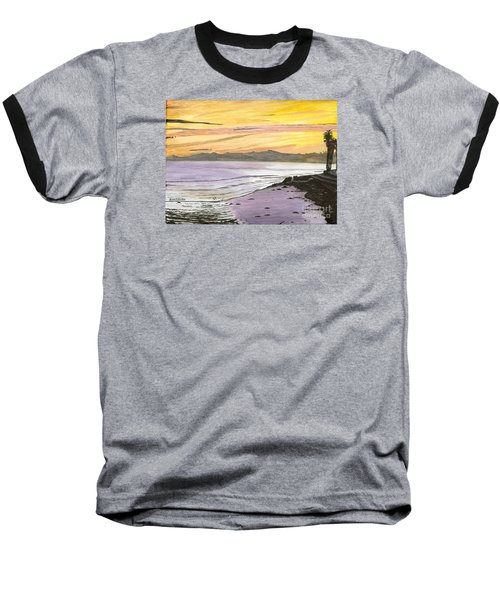 Ventura Point At Sunset Baseball T-Shirt
