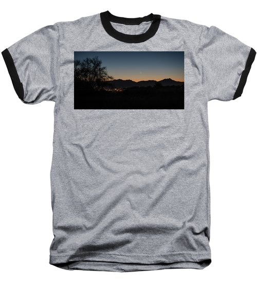 Baseball T-Shirt featuring the photograph Venus And A Young Moon Over Tucson by Dan McManus