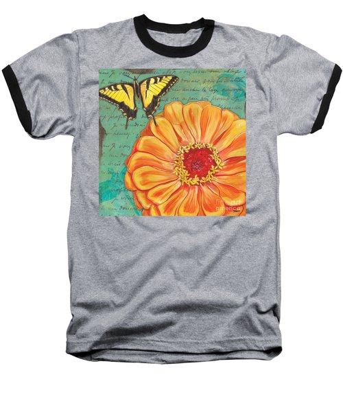 Verdigris Floral 1 Baseball T-Shirt