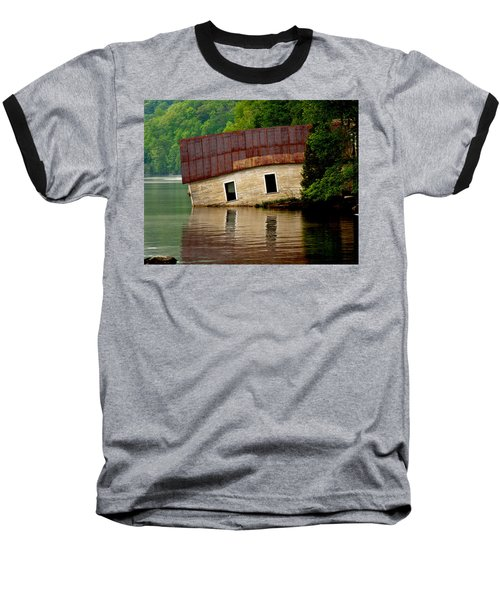 Vermont Boathouse Baseball T-Shirt by John Haldane