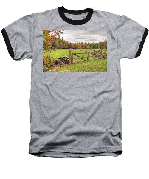 Vermont Countryside Baseball T-Shirt