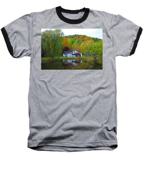 Vermont House In Full Autumn Baseball T-Shirt