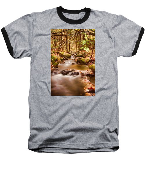 Baseball T-Shirt featuring the photograph Vermont Stream by Jeff Folger
