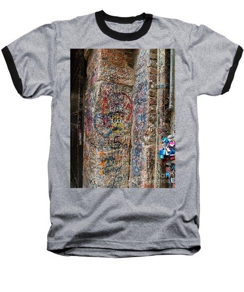 Baseball T-Shirt featuring the photograph Verona Italy Locks Of Love by Robin Maria Pedrero