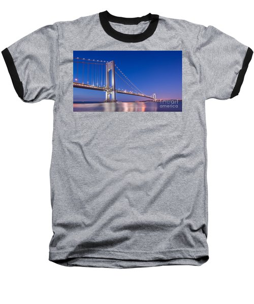 Verrazano Bridge Before Sunrise  Baseball T-Shirt