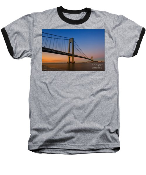 Verrazano Bridge Sunrise  Baseball T-Shirt