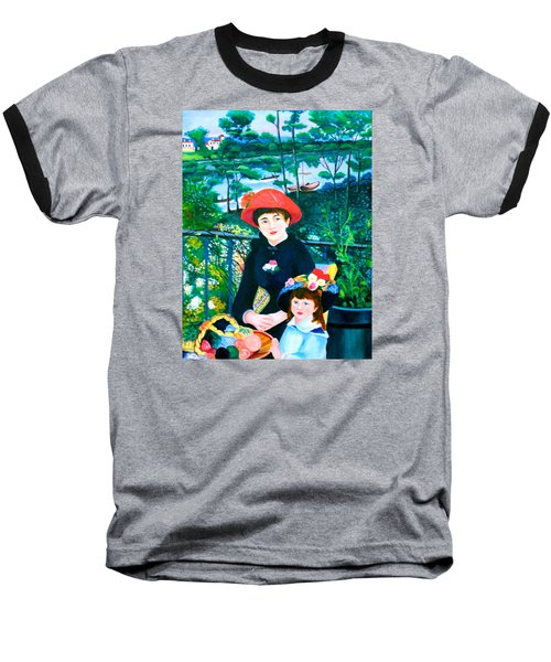 Version Of Renoir's Two Sisters On The Terrace Baseball T-Shirt by Lorna Maza