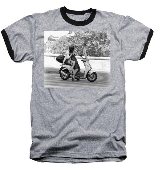 Vespa Romance Baseball T-Shirt by Valentino Visentini