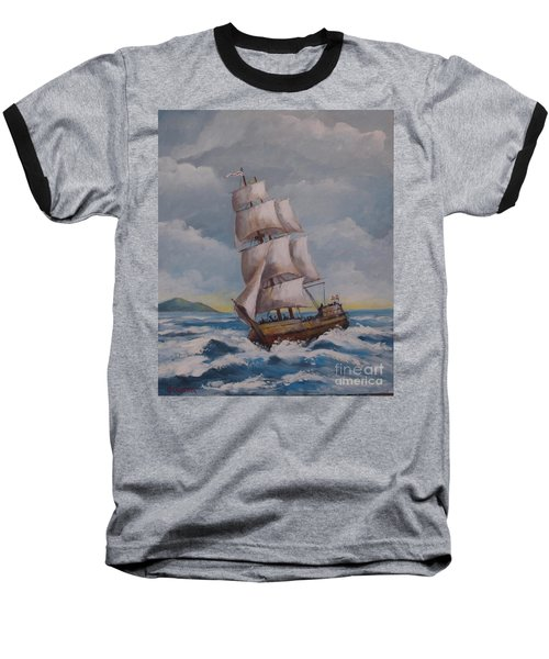 Vessel In The Sea Baseball T-Shirt