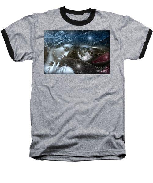 Baseball T-Shirt featuring the digital art Vestal Moon by Rosa Cobos