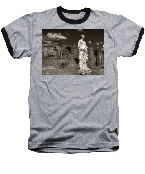 Vestal Virgin Courtyard Statue Baseball T-Shirt
