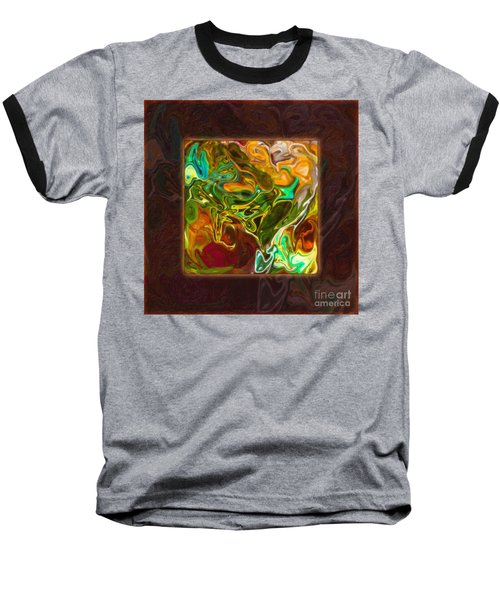 Vibrant Fall Colors An Abstract Painting Baseball T-Shirt