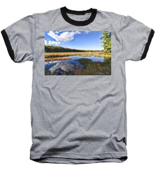 Vibrant Fall Scene Baseball T-Shirt
