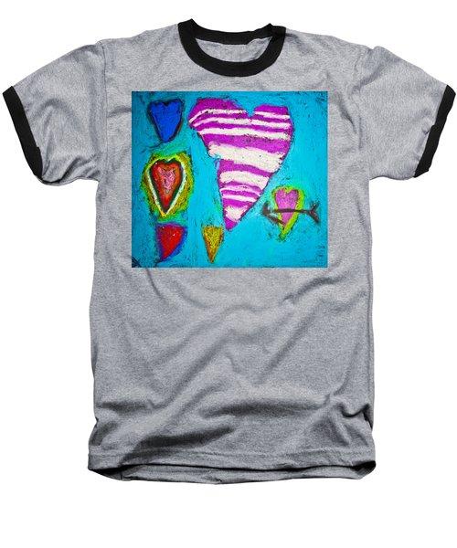 Baseball T-Shirt featuring the photograph Vibrant Love by Sara Frank