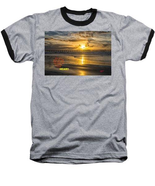Vibrant Sunset Baseball T-Shirt