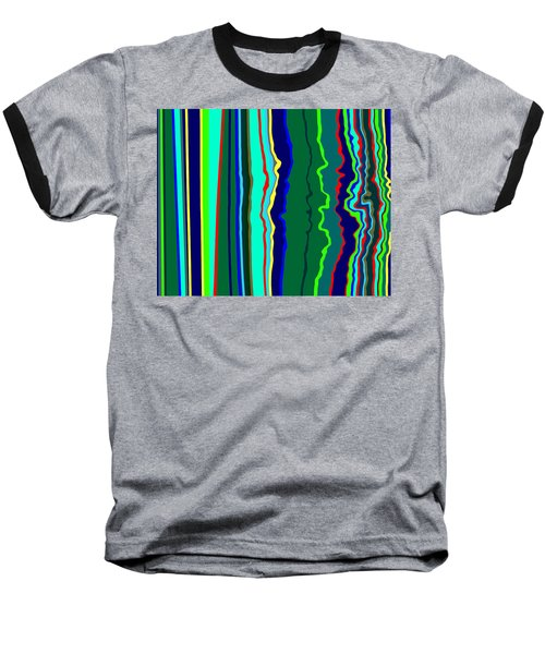 Baseball T-Shirt featuring the painting Vibrato Stripes  C2014  by Paul Ashby