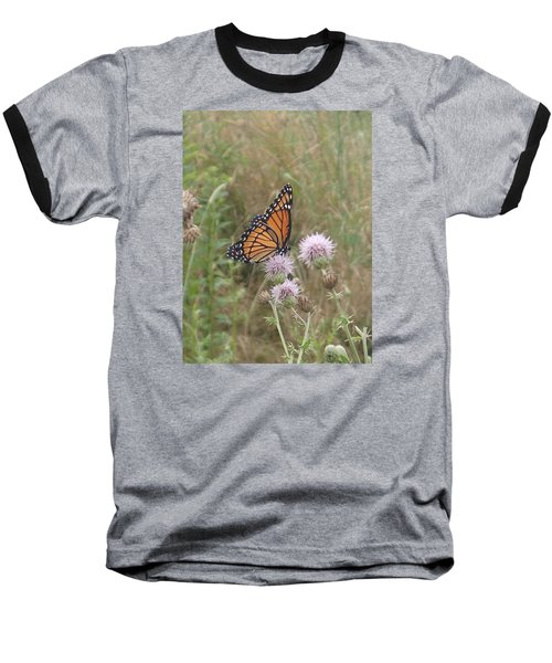 Baseball T-Shirt featuring the photograph Viceroy On Thistle by Robert Nickologianis