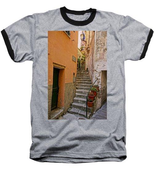Vicolo Della Valle Riomaggiore Italy Dsc02537  Baseball T-Shirt