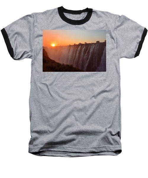 Victoria Falls At Sunset Baseball T-Shirt by Jeff at JSJ Photography