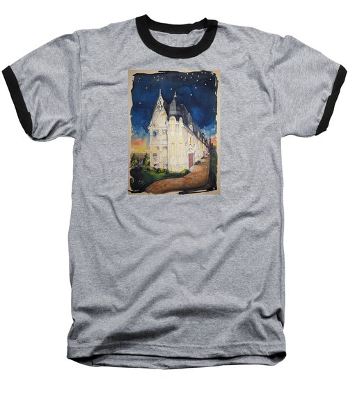 The Victorian Apartment Building By Rjfxx. Original Watercolor Painting. Baseball T-Shirt by RjFxx at beautifullart com