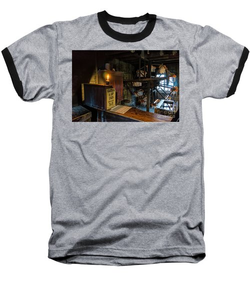 Victorian Candle Factory Baseball T-Shirt by Adrian Evans