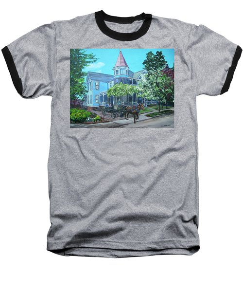 Baseball T-Shirt featuring the painting Victorian Greenville by Bryan Bustard
