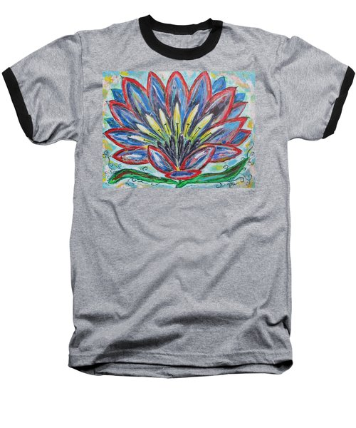 Hawaiian Blossom Baseball T-Shirt by Diane Pape