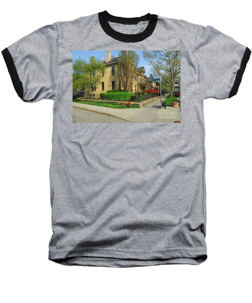 D47l-15 Victorian Village Photo Baseball T-Shirt