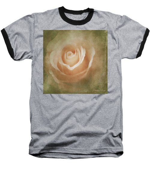 Victorian Vintage Pink Rose Baseball T-Shirt