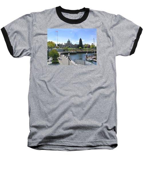 Victoria's Parliament Buildings Baseball T-Shirt