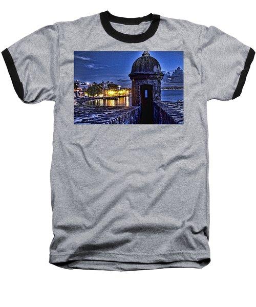 Viejo San Juan En La Noche Baseball T-Shirt by Daniel Sheldon