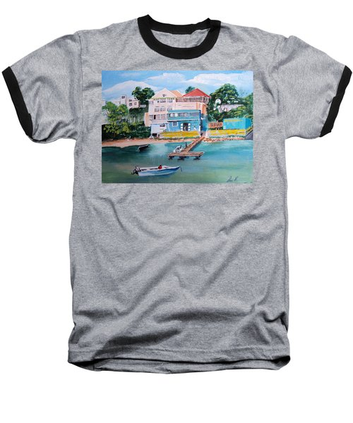 Vieques Puerto Rico Baseball T-Shirt by Luis F Rodriguez