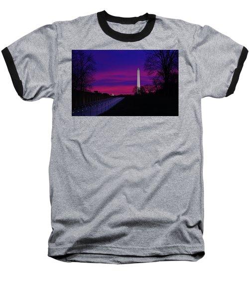 Vietnam Memorial Sunrise Baseball T-Shirt