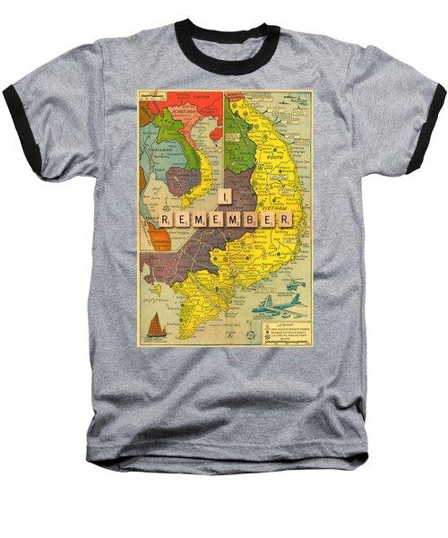 Vietnam War Map Baseball T-Shirt