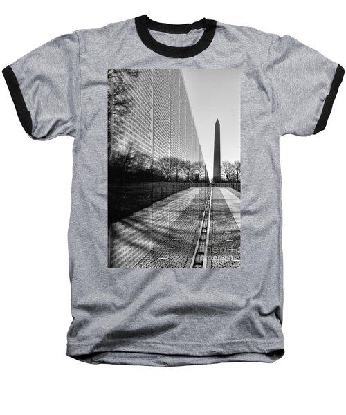 Baseball T-Shirt featuring the photograph Vietnam War Memorial Washington Dc by John S