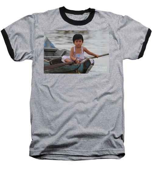 Vietnamese Girl On Lake Tonle Sap Baseball T-Shirt