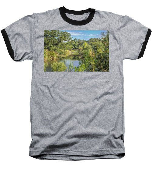 View Down The Creek Baseball T-Shirt by Jane Luxton