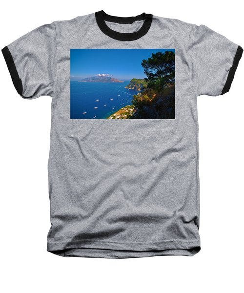 View From Capri Baseball T-Shirt