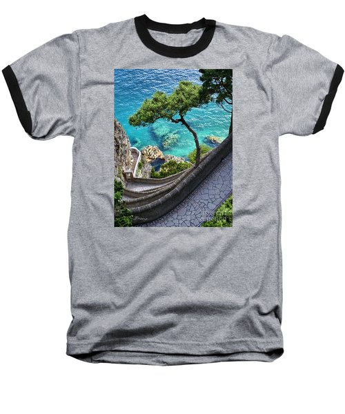 View From Capri.italy Baseball T-Shirt by Jennie Breeze